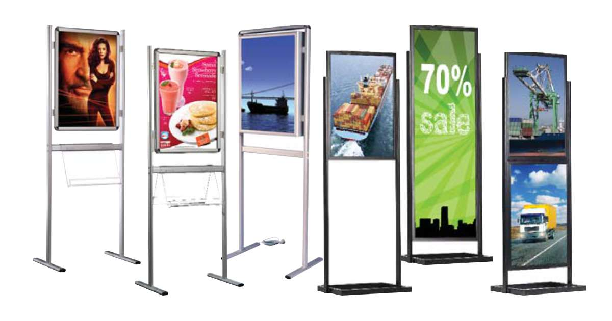 Free-standing Poster Panel